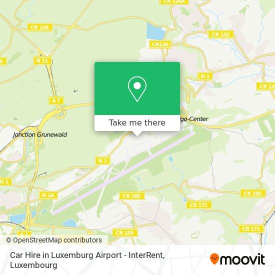 Car Hire in Luxemburg Airport - InterRent map