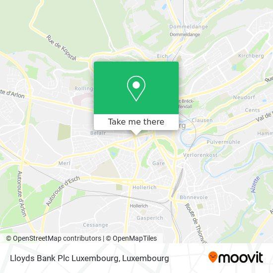 Lloyds Bank Plc Luxembourg map