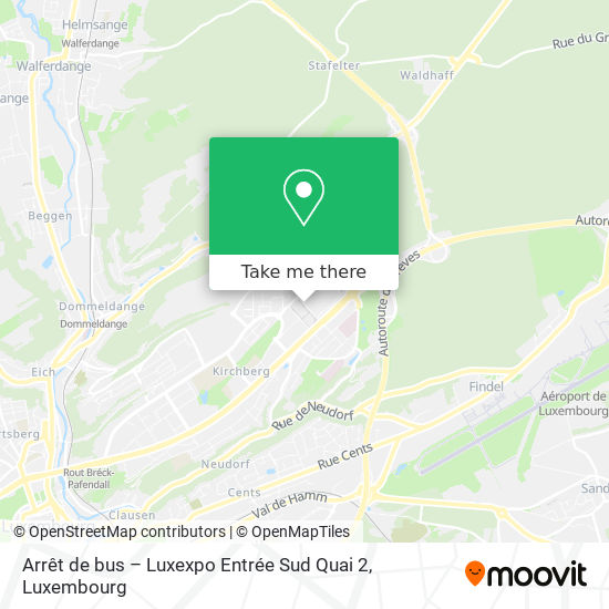 Arrêt de bus – Luxexpo Entrée Sud Quai 2 map