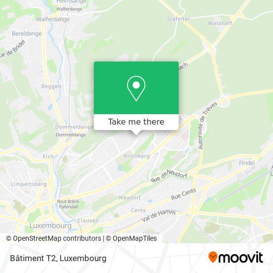 Bâtiment T2 map