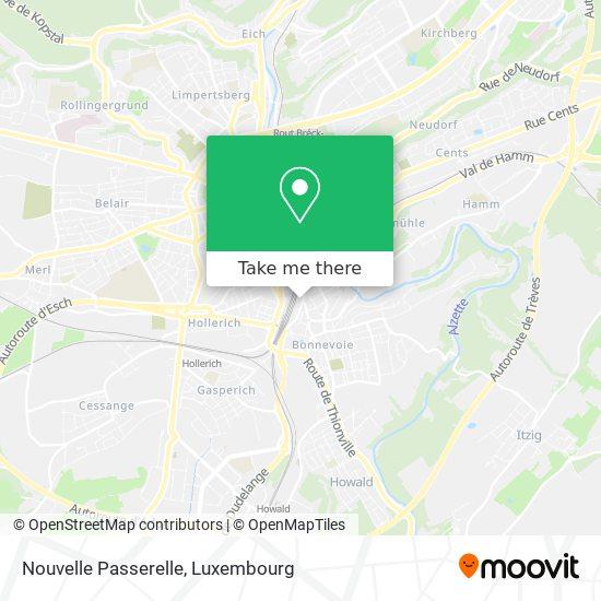 Nouvelle Passerelle map