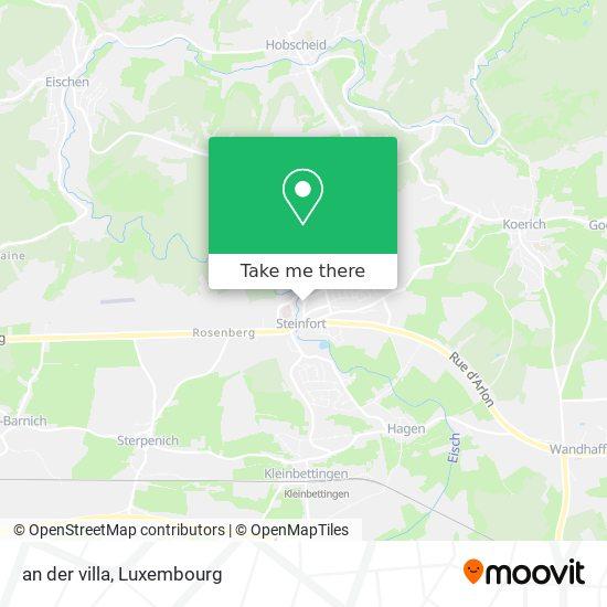 an der villa map