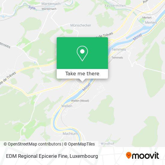 EDM Regional Epicerie Fine map