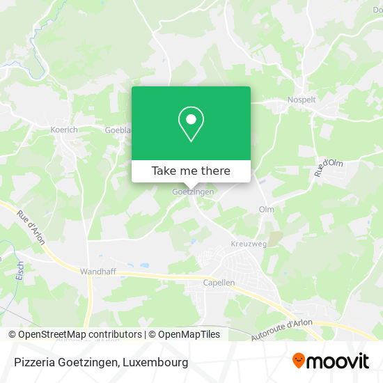 Pizzeria Goetzingen Karte
