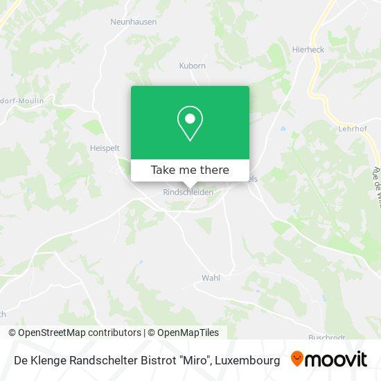 """De Klenge Randschelter Bistrot """"Miro"""" mapa"""