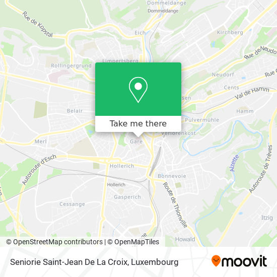 Seniorie Saint-Jean De La Croix map