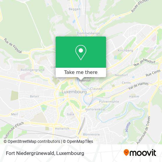 Fort Niedergrünewald map
