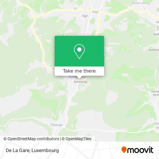 De La Gare map