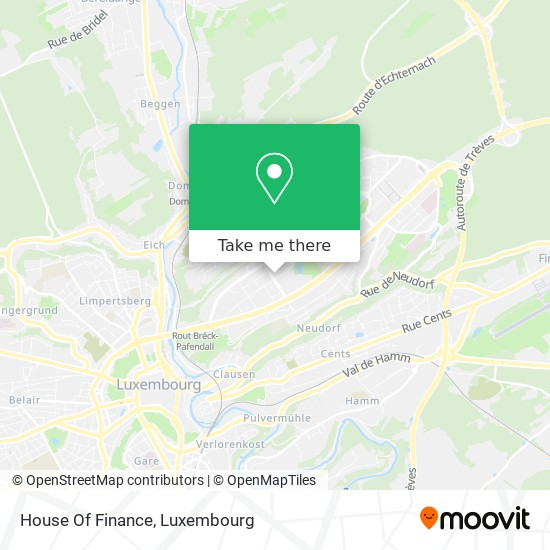 House Of Finance map