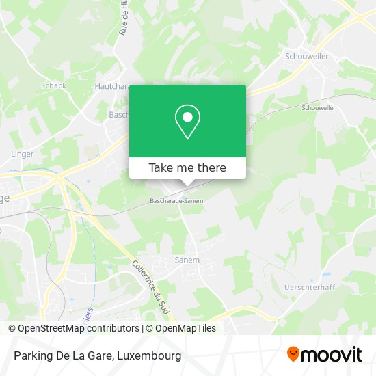 Parking De La Gare map