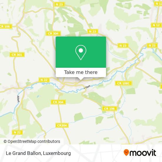 Le Grand Ballon map