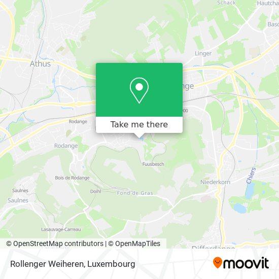 Rollenger Weiheren map