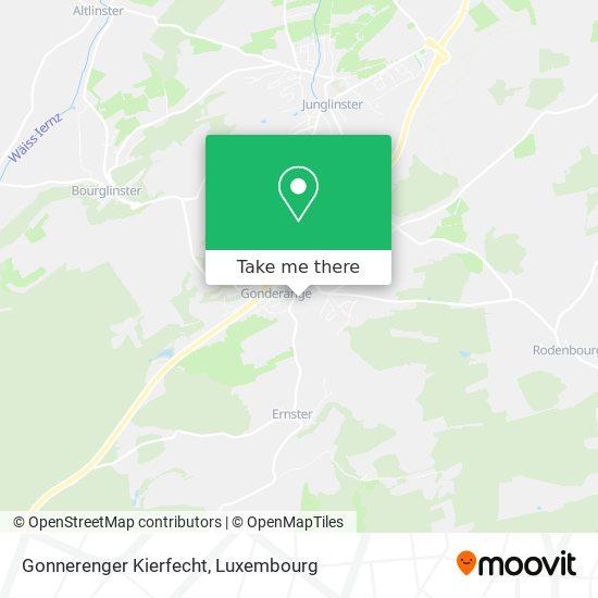 Cimetière De Gonderange map