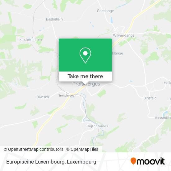 Europiscine Luxembourg map