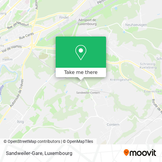 Sandweiler-Gare map