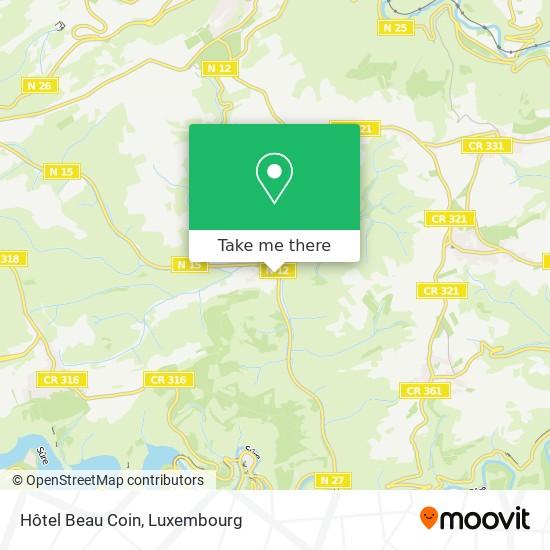 Hôtel Beau Coin map