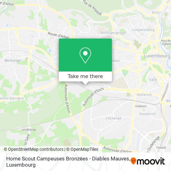 Home Scout Campeuses Bronzées - Diables Mauves map