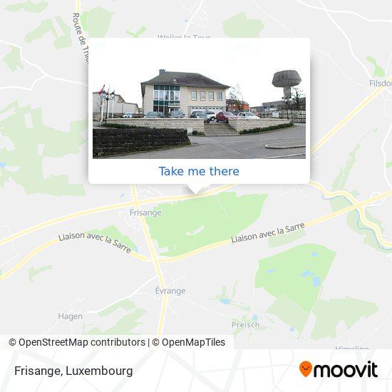 Frisange map