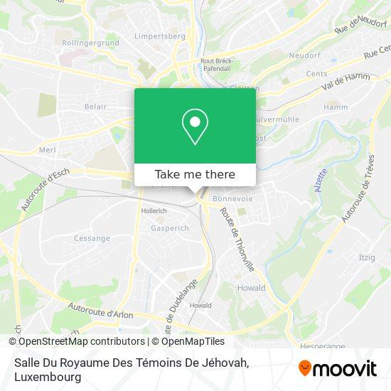 Salle Du Royaume Des Témoins De Jéhovah map
