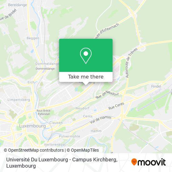 Université Du Luxembourg - Campus Kirchberg map