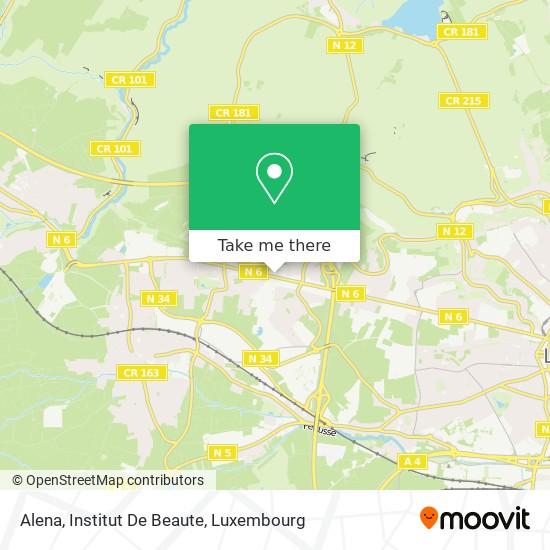 Alena, Institut De Beaute map