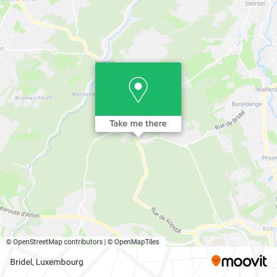 Bridel mapa