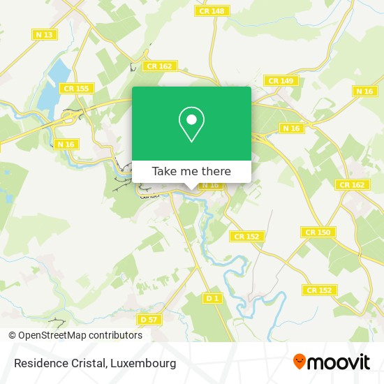 Residence Cristal map