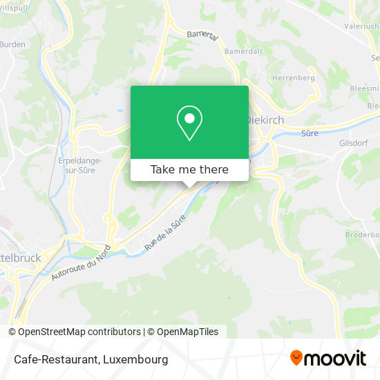 Cafe-Restaurant Appel A Biren map