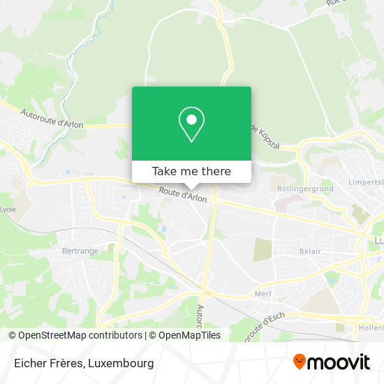 Eicher Frères map