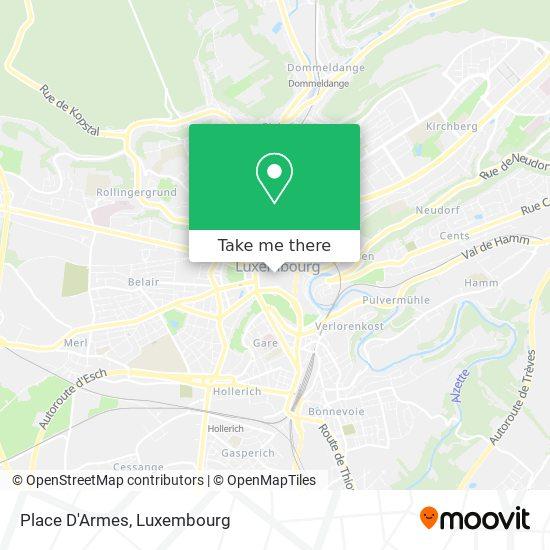 Place D'Armes map