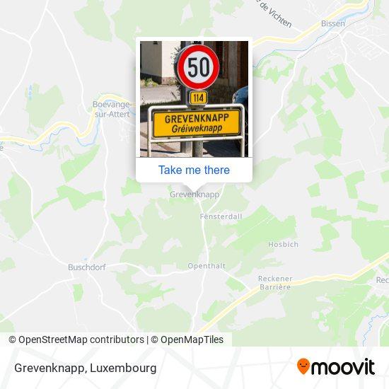 Grevenknapp map