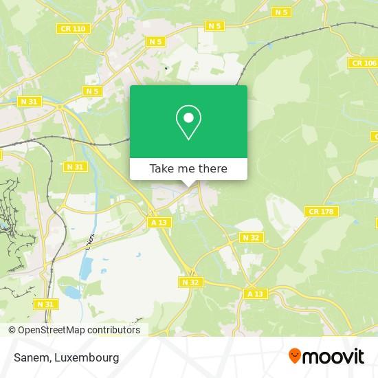 Sanem map