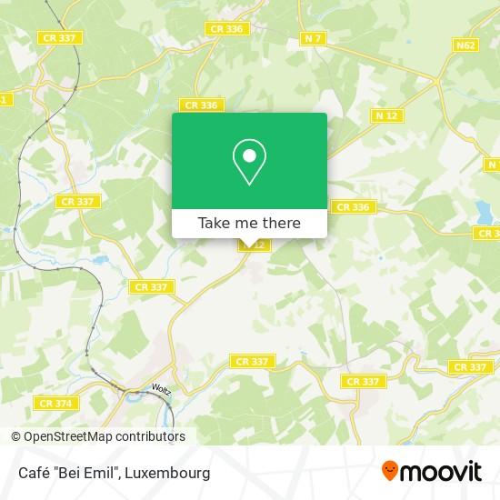 """Café """"Bei Emil"""" map"""