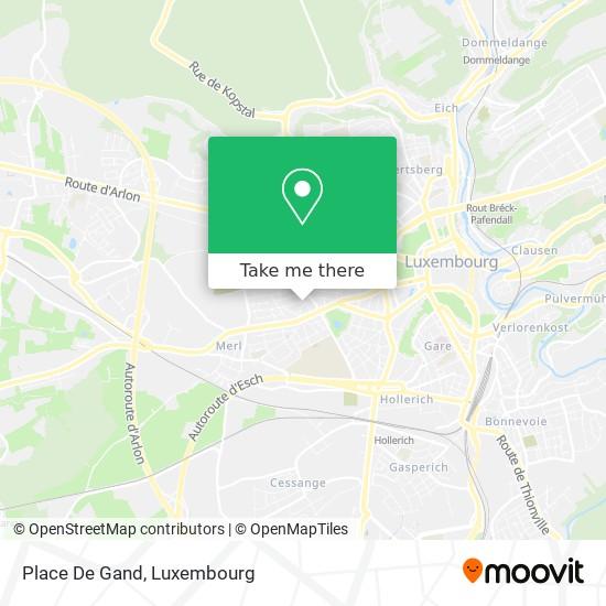 Place De Gand map