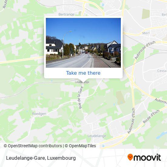 Leudelange-Gare Karte