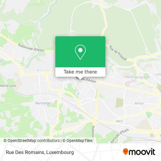 Rue Des Romains map