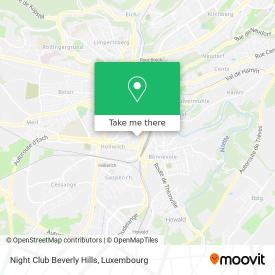 Night Club Beverly Hills map