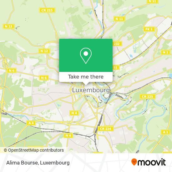 Alima Bourse map