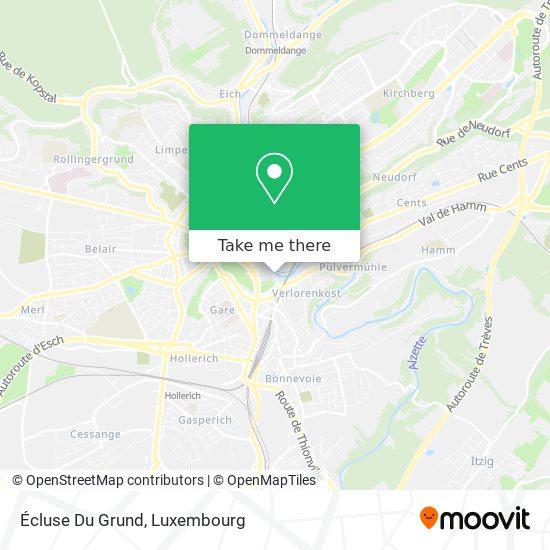 Écluse Du Grund map
