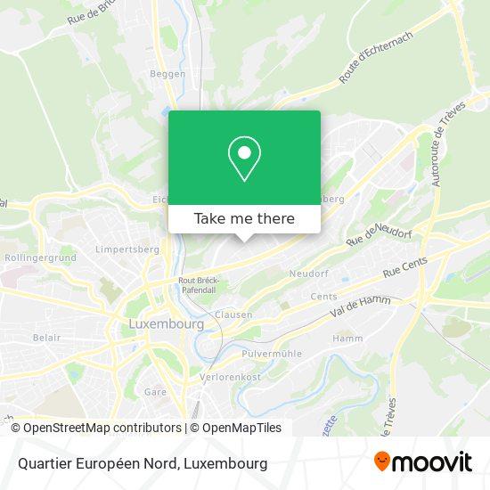 Quartier Européen Nord map