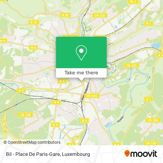 Bil - Place De Paris-Gare map