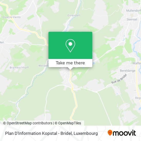 Plan D'Information Kopstal - Bridel Karte