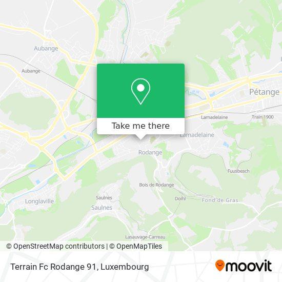 Terrain Fc Rodange 91 (Synthétique) map