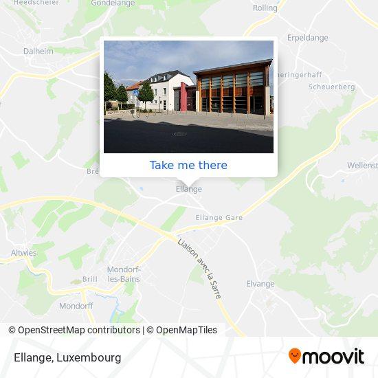 Ellange map