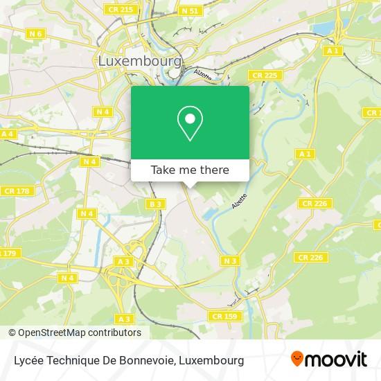 Lycée Technique De Bonnevoie map