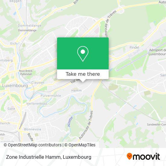 Zone Industrielle Hamm map