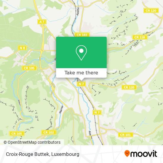 Croix-Rouge Buttek map