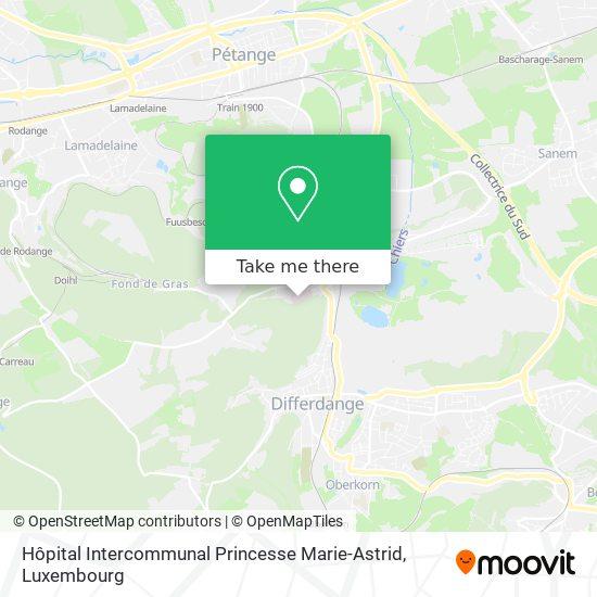 Hôpital Intercommunal Princesse Marie-Astrid map