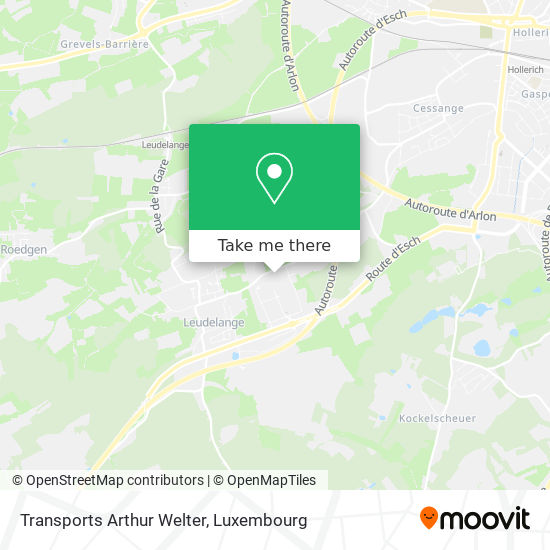 Transports Arthur Welter map