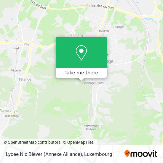 Lycee Nic Biever (Annexe Alliance) map